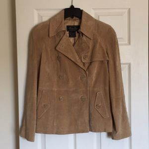 Terry Lewis camel suede genuine leather jacket